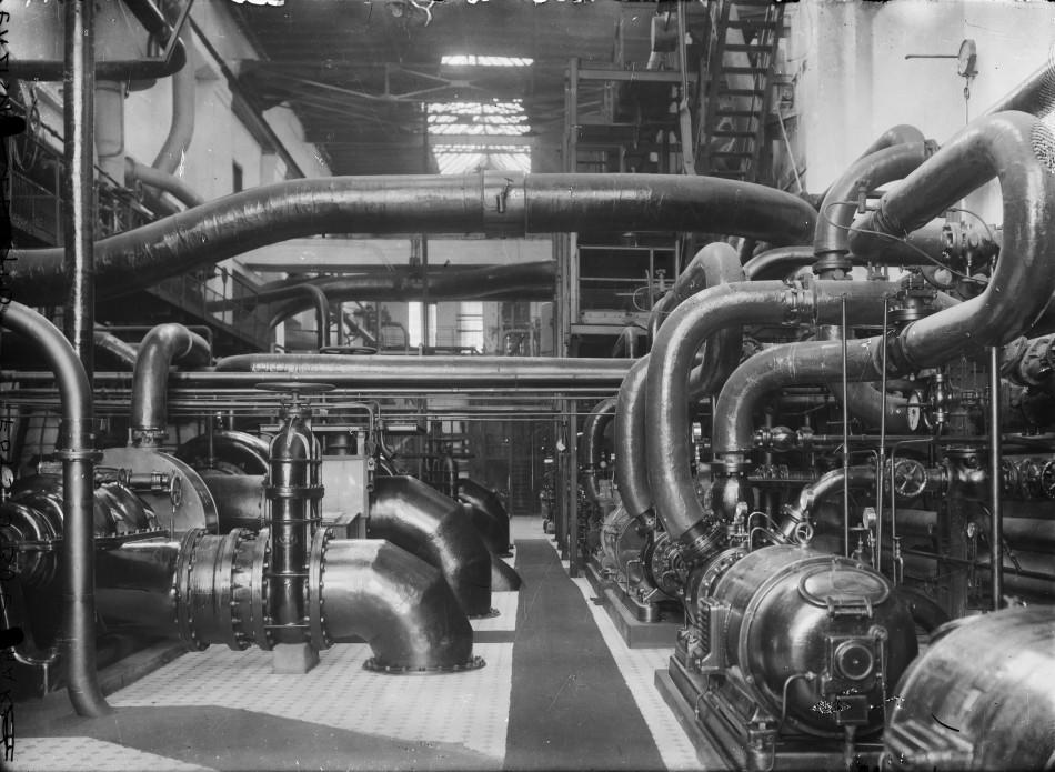 """Jan Bułhak, Zakłady """"Elektro"""" w Łaziskach Górnych, 1936 zbiory Muzeum Górnośląskie w Bytomiu"""